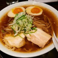 shoyu ramen with boiled egg