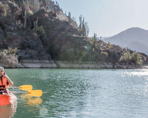 Punto de acceso de nuestra travesía en Kayak por el embalse Puclaro