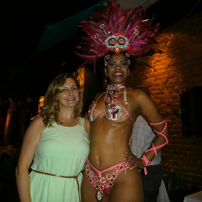 Samba dancer & I, not with the right clothes but getting my way through the secrets of samba dan