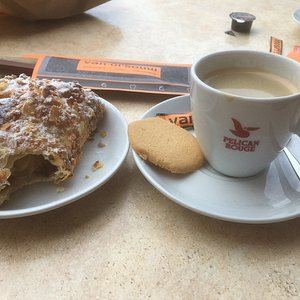 Good coffee, lovely almond croissants