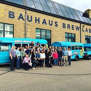 Corporate tour at Bauhaus Brewing