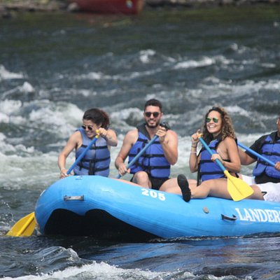 Rafting through Skinners Falls is an awesome experience!