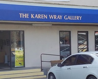 Front entry to gallery on Central Avenue.