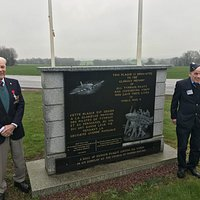 two RAF typhoon ground crew from 2nd WW visiting the memorial march 2018