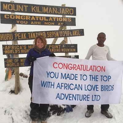 Top  Roof of Africa in mount kilimanjaro.