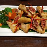 Duck rolls and dimsums