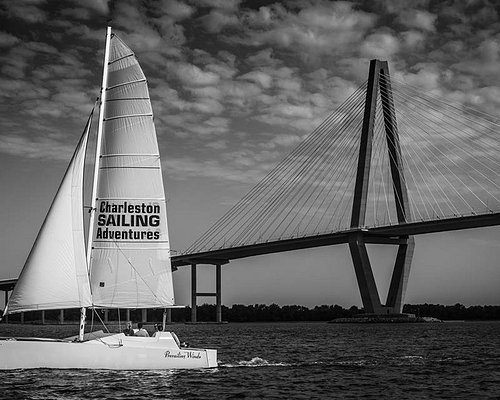 Sailing by the Cooper River Bridge on the PW