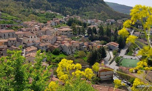 a panoramic view of Sasso di Castalda