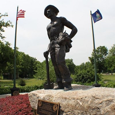 Entering the park, visitors are greeted by a memorial dedicated to the Civilian Conservation Cor