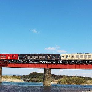 一番の見所、球磨川第4橋梁 The best view KUMA River Number four iron bridge