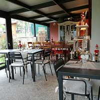 Piccolo scorcio della veranda in cui abbiamo avuto il piacere di pranzare!