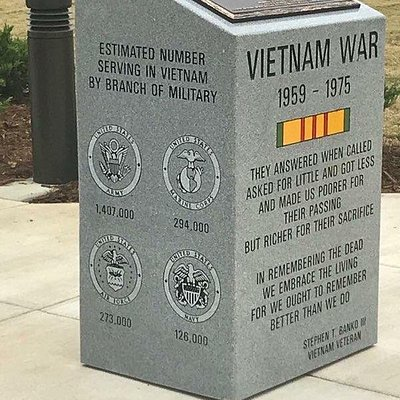 Monument at Vietnam Replica Wall