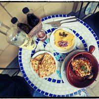 Meze with tsipouro