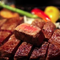 Droolworthy, melt-in-your-mouth filet steak as part of the set meal