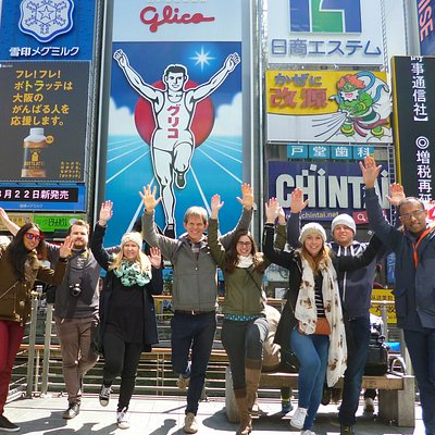 Running pose is a must at Dotonbori