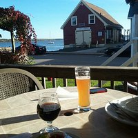 enjoy a cold beer on our patio, overlooking beautiful Pictou Harbour