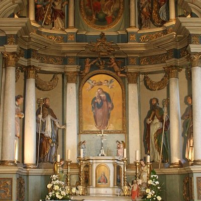 Chapel of the Blessed virgin Mary Snow - baroque main altar