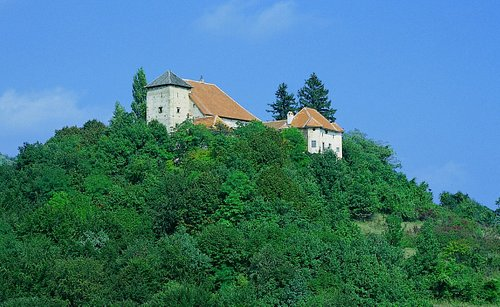 Castel Oršić on the top of the hill