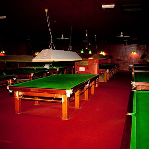 The clean quiet well maintained Snooker Hall