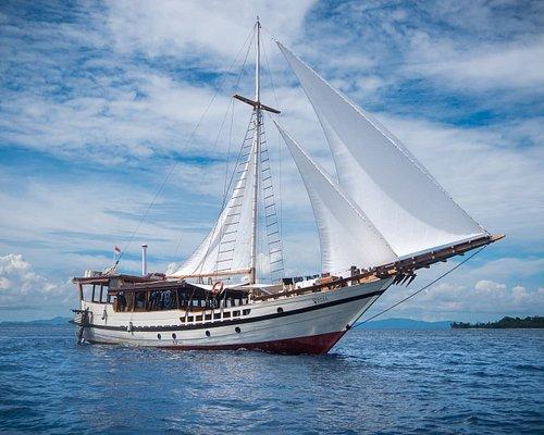 Wisesa under sail