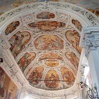 Il soffitto dell'abside