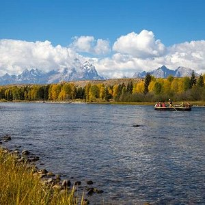Take a 10 mile scenic raft trip on the Snake River