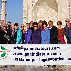 French group at Taj Mahal