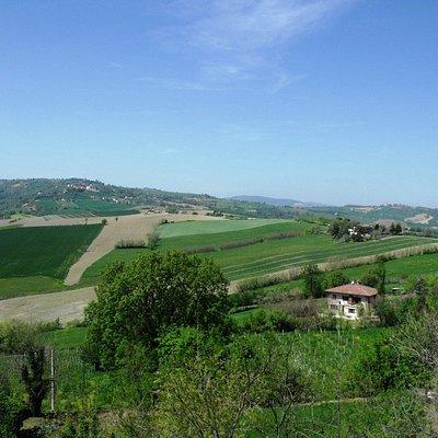 Vista dal borgo