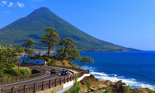 瀬平公園からみた開聞岳1・絶景です。