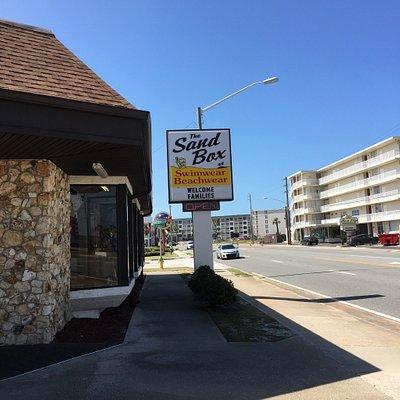 The Sand Box swimwear shop.