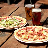 Pigeon Bay (Left) & Linwood (Right) Wood-Fired Pizzas - Pizzas served 12pm-Late