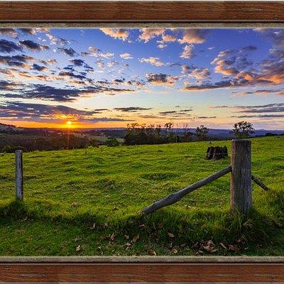 "A framed print of my ""Beutels Sunset"" photograph"
