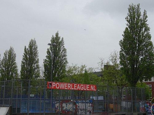banner van Powerleague voetbaltrainingen