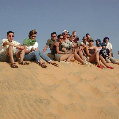 Une photo prise dans le désert de Lompoul sur les dunes de sable trés fin
