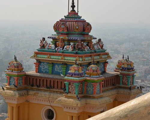The temple ... with trichy in background