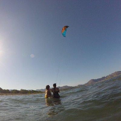kite surfing in Pollens bay