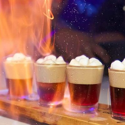 The Bouncy Shot: Cherry Amaretto - Bailey's - Marshmallows - and Sauc'é Secret Ingredients!