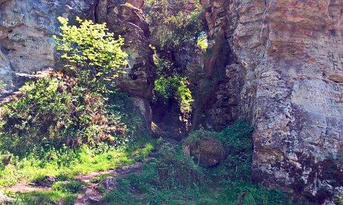 Eingang in der Kluft zur Bärenhöhle
