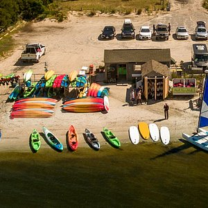 Whether you are kayaking, paddle boarding or sailing it is an easy launch from Coastal Kayak's b