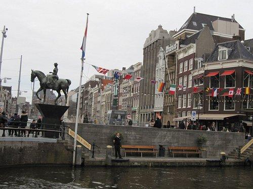 Scorcio della strada Rokin ad Amsterdam