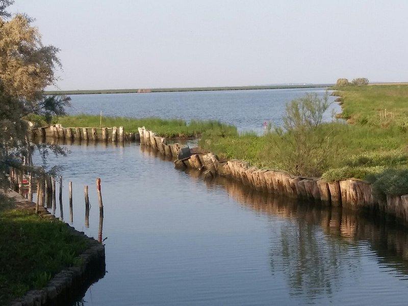Il canale che scorre accanto al Casone delle Sacche