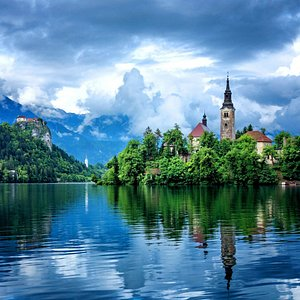 Magic Lake Bled After The Summer Storm