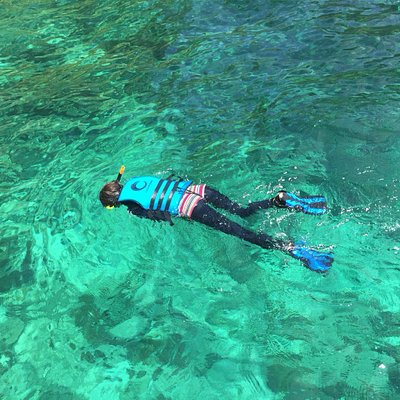 Snorkeling in crystal clear water