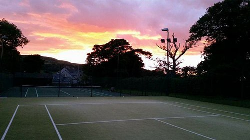 Sunset at Lorton Tennis Club in the beautiful Lorton Valley