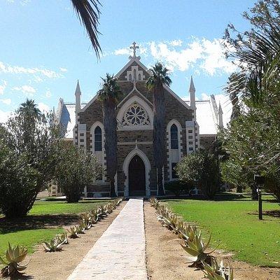 Front facade of church