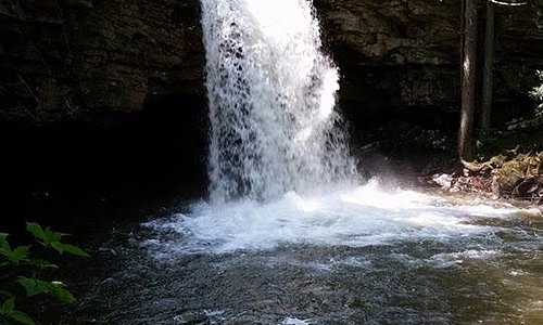 Take a tour to Little Stony Falls.
