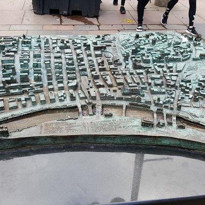 Bronze 3D Map of City Centre