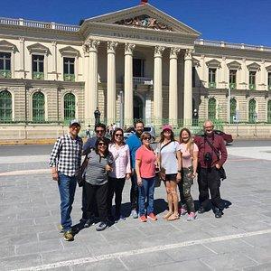 Happy Tourist at City National palace