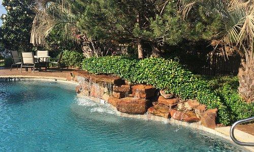 the salt-water pool
