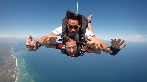 Tandem skydiving over Diani Beach!!